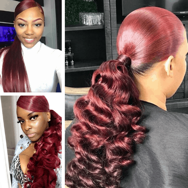 We Know This Hair Color Will Look Goddess For Your Dark Skin Thick Hair 60 Inspiration Images Of 2020 Sugary Burgundy