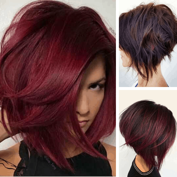 45 Natural Looking Unique Deep Burgundy Short Hair Color Ideas For Women 2021 Burgundy Colors
