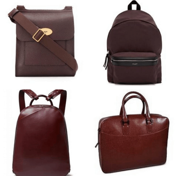 Burgundy Messenger Bag & Burgundy Backpack mens fashion casualmens fashion casual autumn style