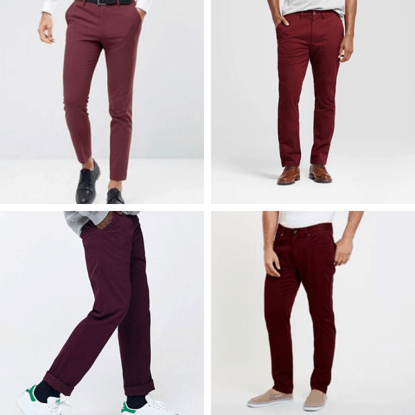 Burgundy Pants for Men mens fashion ideas smart casual mens minimalist wardrobe shoes mens fashion casual