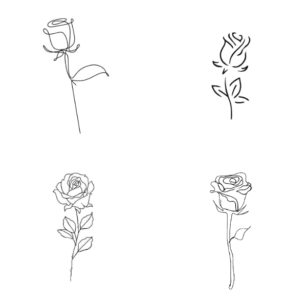 small rose tattoo outline blooming rose tattoo rose tattoos meaning small rose tattoo drawing
