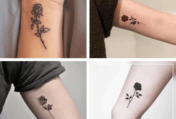 small rose tattoos on arm small rose tattoo on wrist meaning rose tattoo on wrist with name blooming rose tattoo