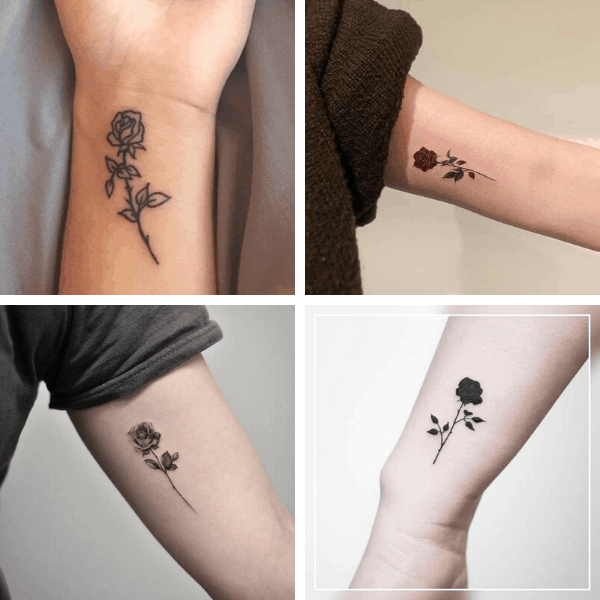 Download 7 Pages Small Rose Temporary Tattoos & DIY them For FREE with 3 Easiest Hacks (Popular on TikTok 2021)
