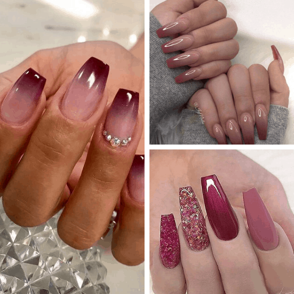 Burgundy elegant nail designs elegant nail art elegant nail designs for weddings elegant nail designs coffin