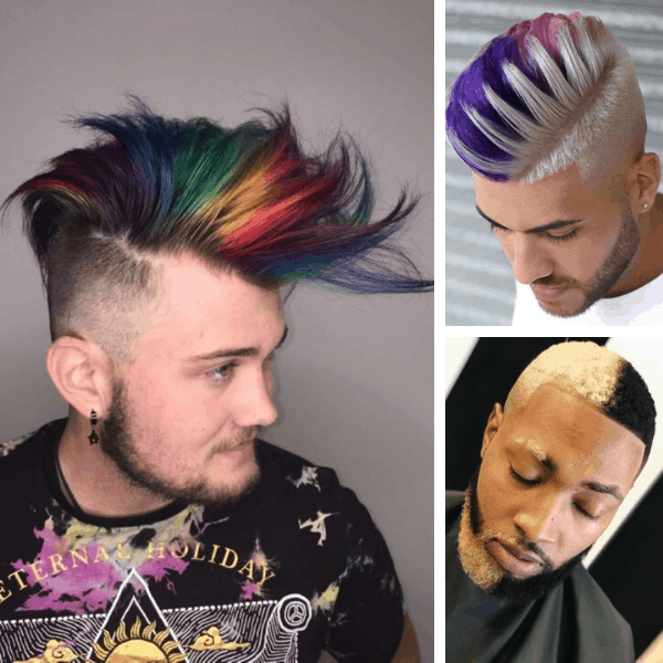 bleached hairstyles for guys pink hairstyles for guys merman hair mens hair color ideas burgundy hair