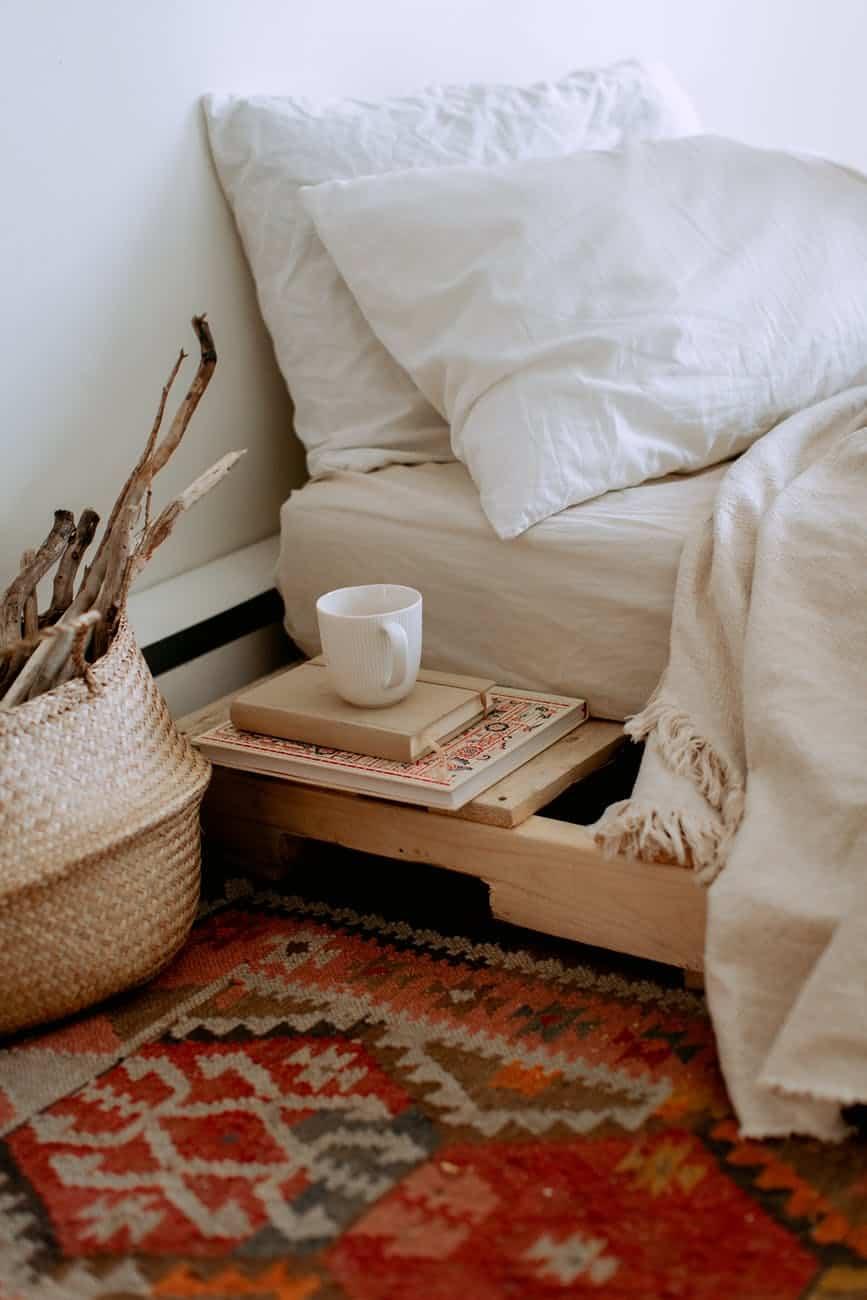 cozy interior of ethnic styled bedroom