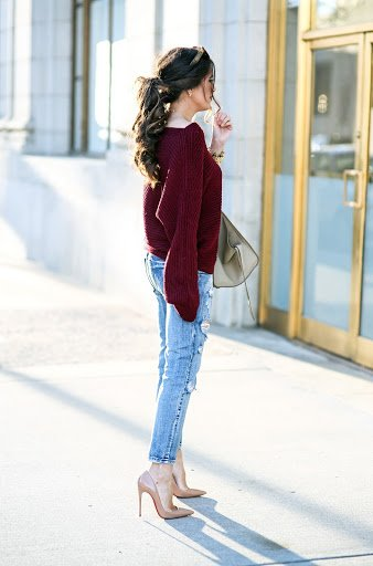 """""""burgundy red/dark red how to dress simple but stylish how to dress fashionably kylie jenner closet"""""""