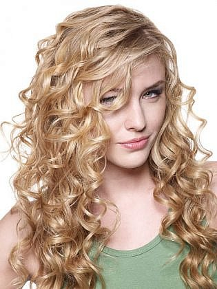 Women hairstyle, curly hair, medium long hair, hot, sexy, beauty