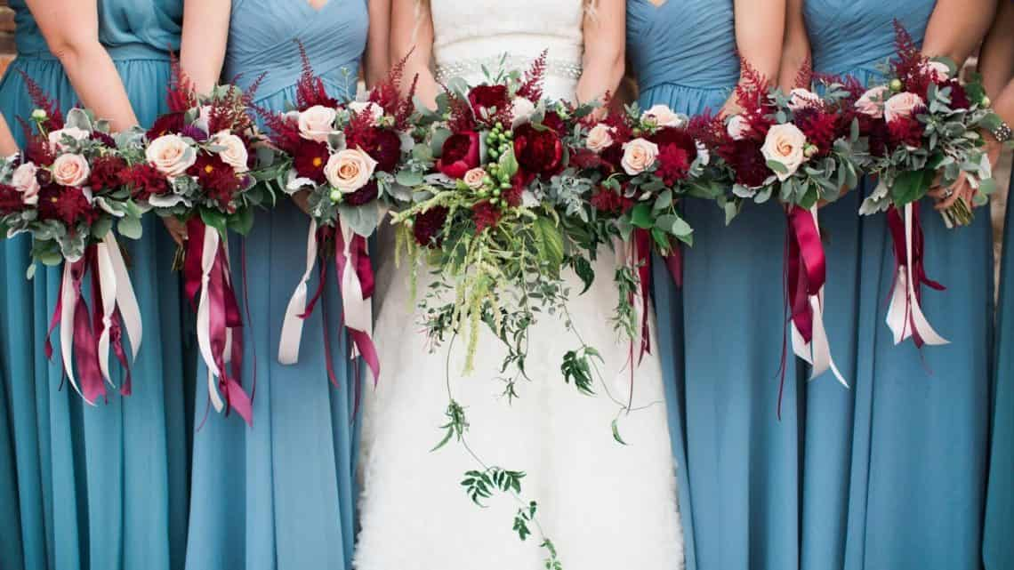 Subtle Wedding Color Theme: 28+ Slate Blue And Burgundy Wedding Trends To Follow (2021)