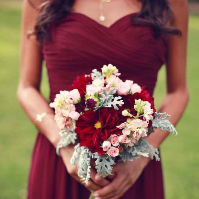 A Perfect Guide To Wedding Dress In Burgundy Theme That Will Make Your Look A Show-stopper For Your Big Day (2021)