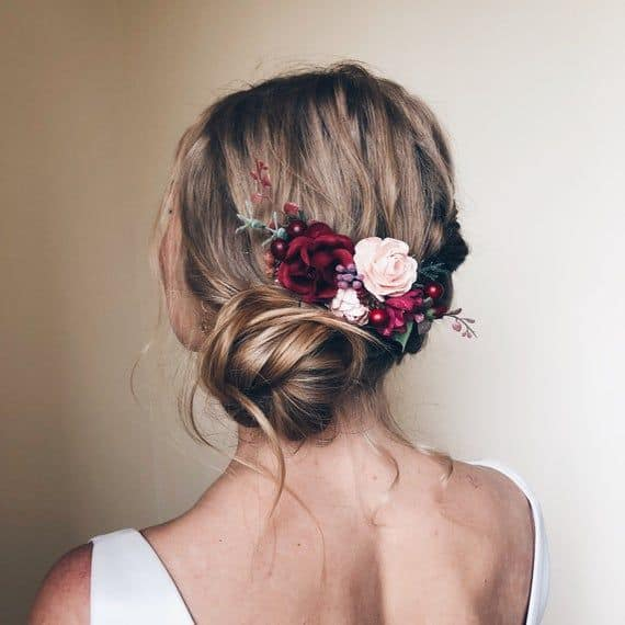 Here Are Some Eye Catching Burgundy Wedding Hairstyle Tips  To Slay Your Look On Your Very Special Day  (2021)