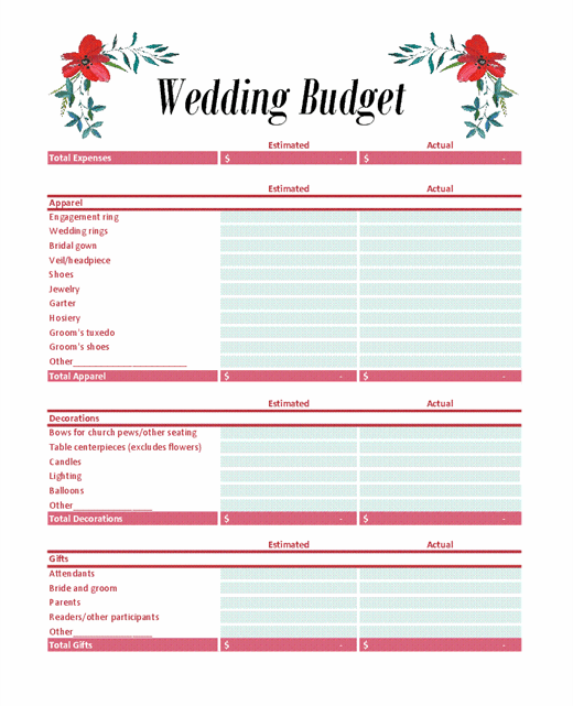 Most Wanted Sample Of Wedding Budget Template  For You To Have A Very Big Marriage Ceremony In Minimal Resources (2021)